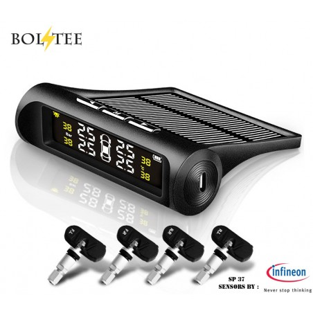 BOLTEE Solar Powered Tyre Pressure Monitoring System(Internal Sensors)